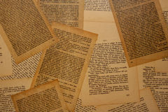 Old Book Pages. Standing over a flat surface Royalty Free Stock Photo