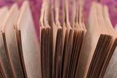 Old book pages closeup Royalty Free Stock Image