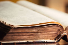 Old Book Pages. Old Vintage Book with open Pages Royalty Free Stock Photography
