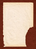 Old book paper with brown cardboard background Stock Photos