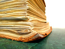Old Book Paper on Desk Royalty Free Stock Photos