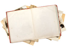 Old book and photos Royalty Free Stock Photo