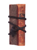 Old book protected with black rope Stock Photography