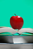 Old Book with red Apple Stock Photography