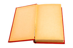 The old book in a red cover. It is isolated Royalty Free Stock Photos