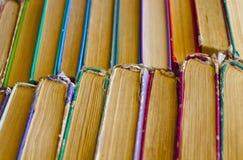 Old book shelf background Stock Image