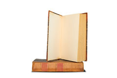 Old book shelf isolated on white background Stock Photo