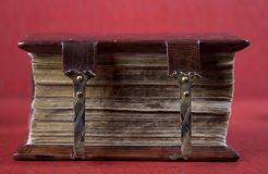 An old book. soft focus. An old book on a red background soft focus Royalty Free Stock Photography