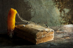 Old book a still life. Photography Stock Image