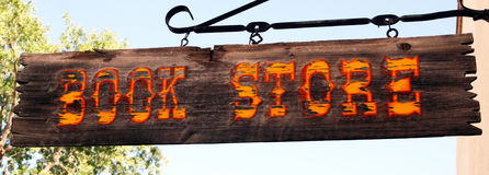 An Old Book Store Sign Royalty Free Stock Images