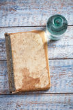 Old book on table background Royalty Free Stock Photo