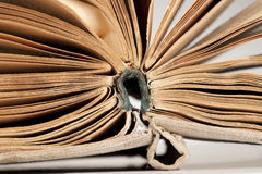 Old book with teared slightly sheets Royalty Free Stock Photography