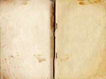 Old Book Texture. Old opened book texture Stock Photography