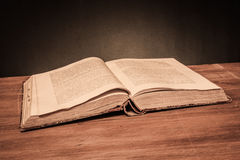 Old opened book Stock Photography