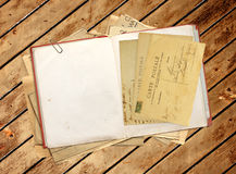 Old book and vintage post cards Royalty Free Stock Photo