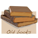 Old book vintage vector. Isolated Stock Image