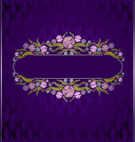Old book violet luxury florish background Stock Photos