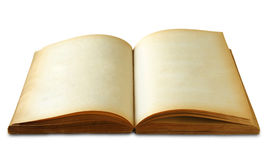 Old book on white Royalty Free Stock Image