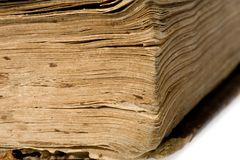Old book on white background. Publishing 19 ages Royalty Free Stock Images