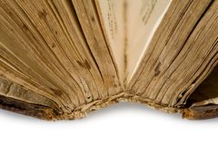 Old book on white background. Publishing 19 ages Stock Photography