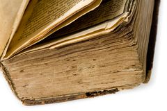 Old book on white background. Publishing 19 ages Royalty Free Stock Photos