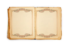 Old book on the white background. With frame. Includes clipping path Stock Photos