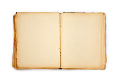 Old book on the white background Stock Photo
