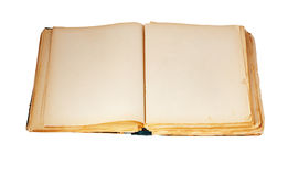Old book on the white background. With clipping path Stock Images
