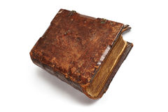 Old book on white background Royalty Free Stock Images