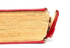 Old book on white background Royalty Free Stock Photography