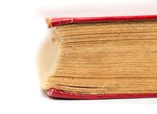 Old book on white background Royalty Free Stock Photo