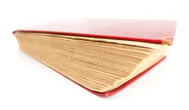 Old book on a white background. Photos in the studio Royalty Free Stock Images