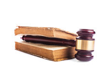 Book and gavel Royalty Free Stock Photography