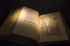 Old book written in Latin Stock Photos