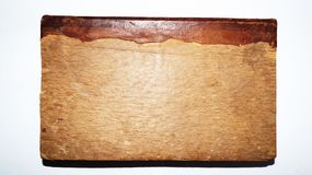 Old book from XIX. century. Real wood covered old book from XIX. century with real leather Royalty Free Stock Photo
