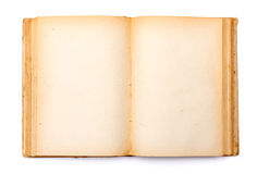 Old book with yellowed pages Stock Image