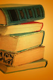 Old books. On brown background Royalty Free Stock Photography