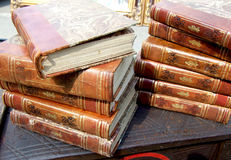 Old books. Exposed on bazaar Royalty Free Stock Images