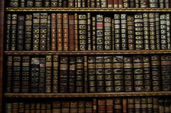 Old books. The decorated backs of old books Royalty Free Stock Photography