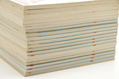 Old books. Old cookery books stacked for the budget Stock Images