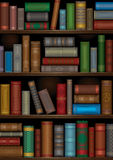 Old_books. A library shelves with old books Royalty Free Stock Photography