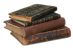 Old books 18 ages. And white background Royalty Free Stock Image