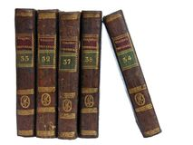 Old Books - 2. Old travel books Stock Image