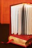 Old books. Still life with dark orange books Royalty Free Stock Photo