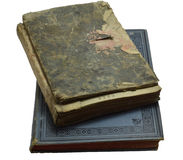Old books. Old dusty printed church books Royalty Free Stock Photos