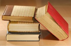 Old Books. Photo of Old Text Books - Library / School Related royalty free stock photos