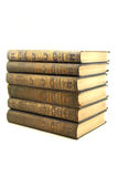 Old books. Vintage books isolated on white backgrund royalty free stock photo