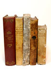 Old books. Five closed book of the seven hundred Royalty Free Stock Photo