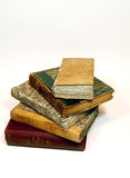 Old books. Five closed book of the seven hundred Royalty Free Stock Photography