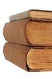 Old books. Very old books with yellowed papers Royalty Free Stock Photo